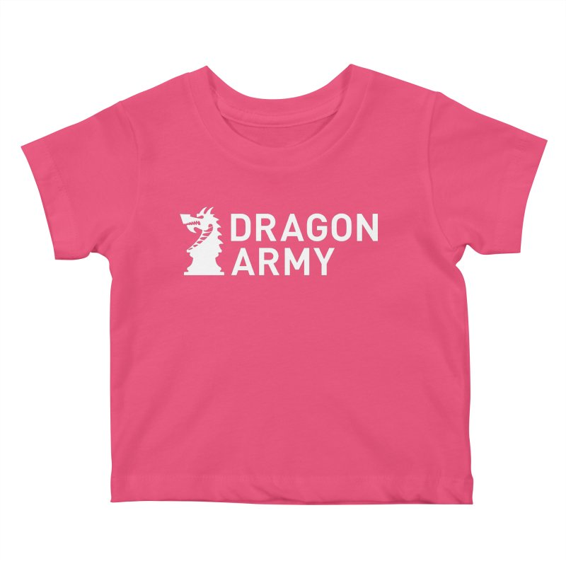 Classic - White Kids Baby T-Shirt by Dragon Army Gear