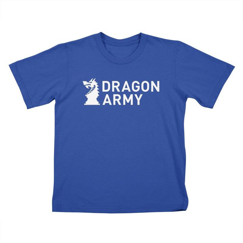 Classic - White Kids T-Shirt by Dragon Army Gear