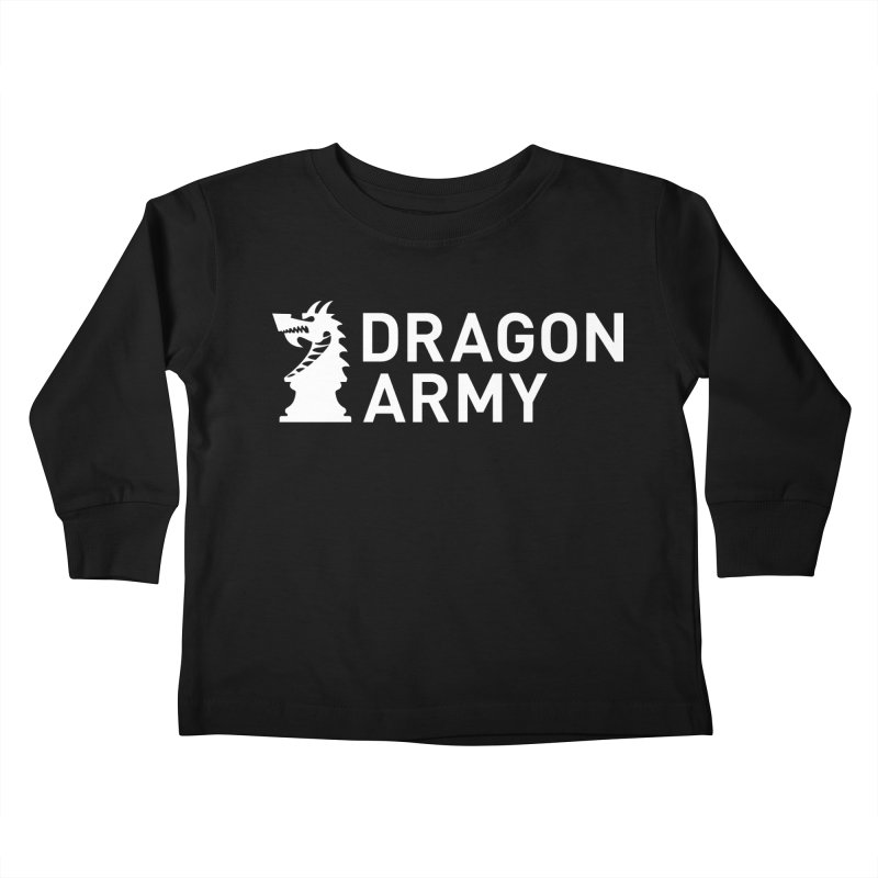 Classic - White Kids Toddler Longsleeve T-Shirt by Dragon Army Gear