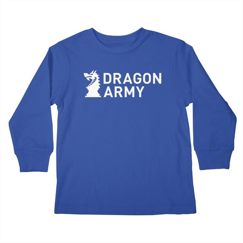 Classic - White Kids Longsleeve T-Shirt by Dragon Army Gear
