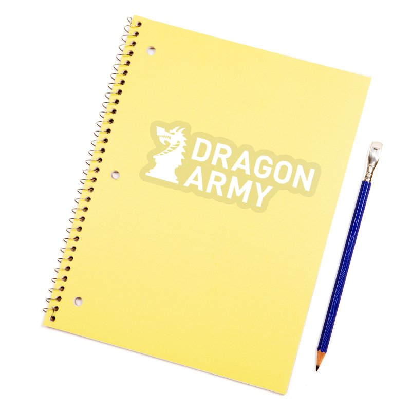 Classic - White Accessories Sticker by Dragon Army Gear