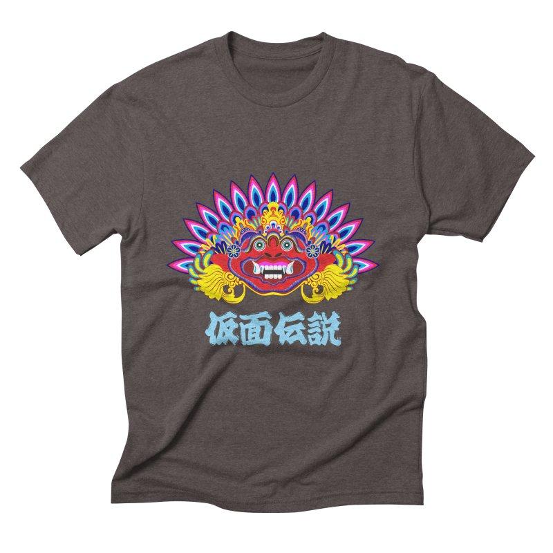 Legend of Mask Men's Triblend T-Shirt by Dragonstar's Artist Shop