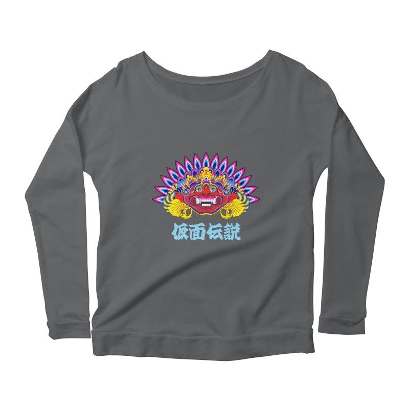 Legend of Mask Women's Scoop Neck Longsleeve T-Shirt by Dragonstar's Artist Shop
