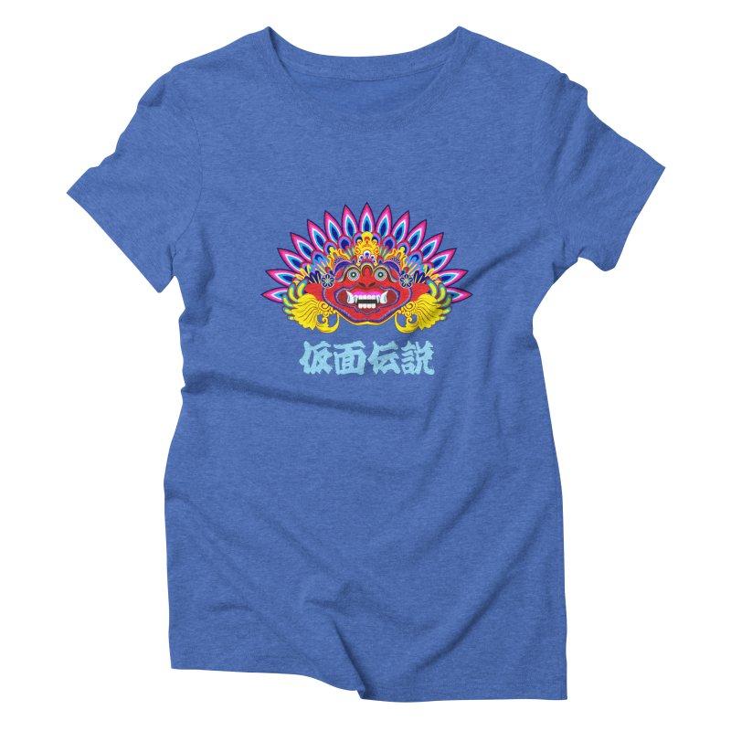 Legend of Mask Women's Triblend T-Shirt by Dragonstar's Artist Shop