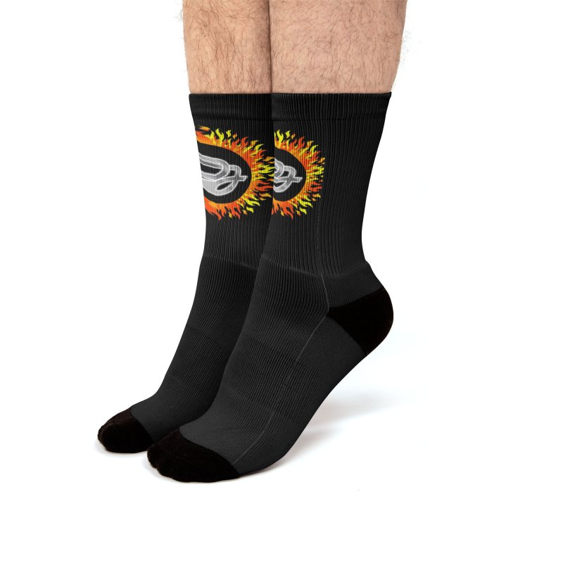 Burn The Floor Logo Socks Men's Socks by Drake Jensen's Artist Shop