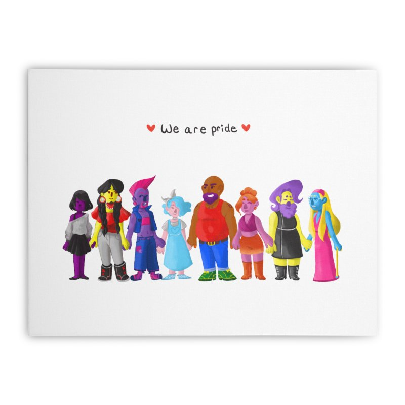 We Are Pride Home Stretched Canvas by Drake Jensen's Artist Shop