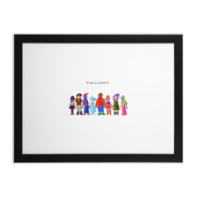 We Are Pride Home Framed Fine Art Print by Drake Jensen's Artist Shop
