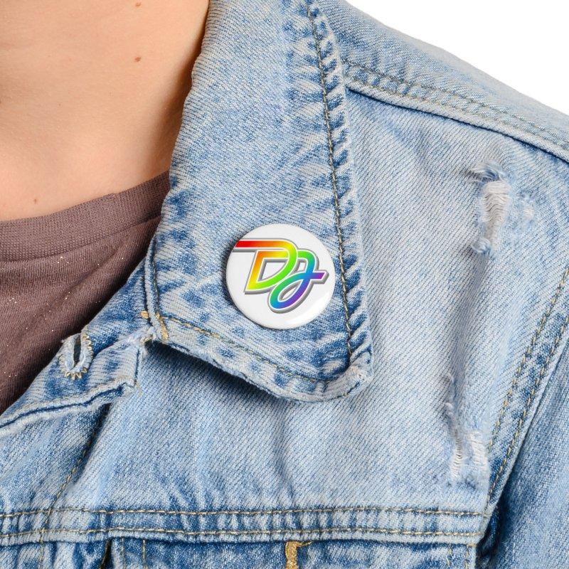 Drake Jensen Pride Logo (Centered) Accessories Button by Drake Jensen's Artist Shop