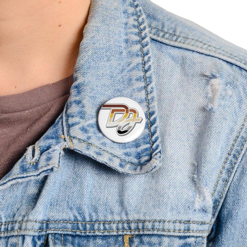 Drake Jensen Bear Pride Logo (Centered) Accessories Button by Drake Jensen's Artist Shop