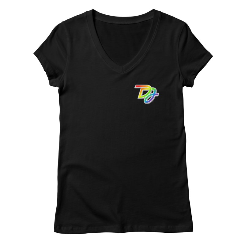 Drake Jensen Pride Logo (Breast) Women's V-Neck by Drake Jensen's Artist Shop