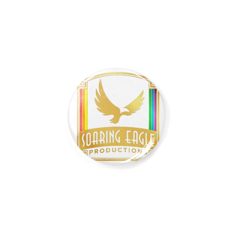 Soaring Eagle Productions (Centered) Accessories Button by Drake Jensen's Artist Shop