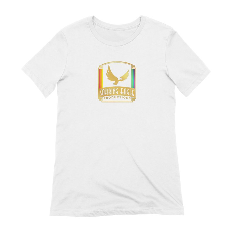 Soaring Eagle Productions (Centered) Women's T-Shirt by Drake Jensen's Artist Shop