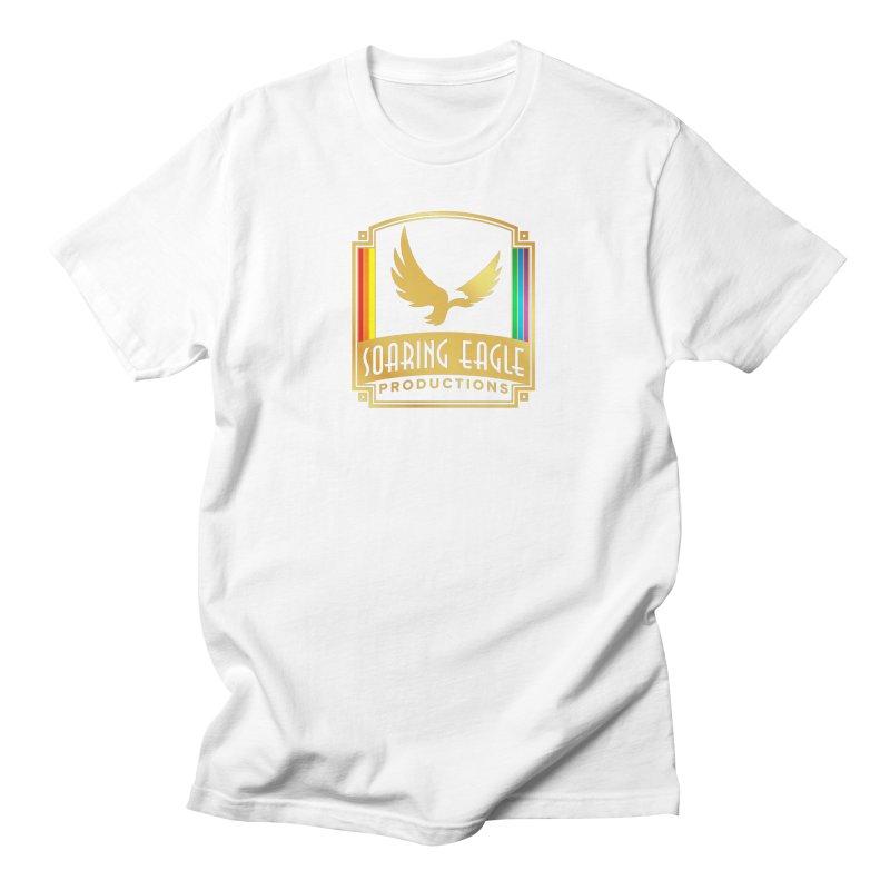 Soaring Eagle Productions (Centered) Men's T-Shirt by Drake Jensen's Artist Shop