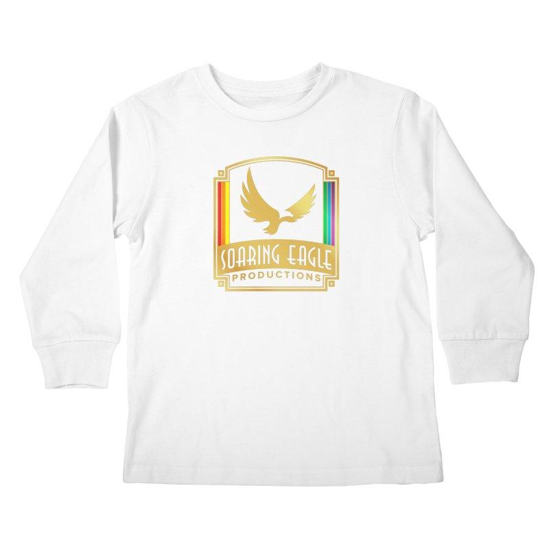 Soaring Eagle Productions (Centered) Kids Longsleeve T-Shirt by Drake Jensen's Artist Shop