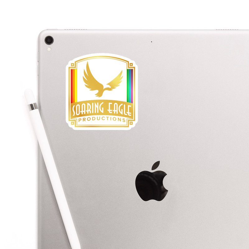 Soaring Eagle Productions (Centered) Accessories Sticker by Drake Jensen's Artist Shop