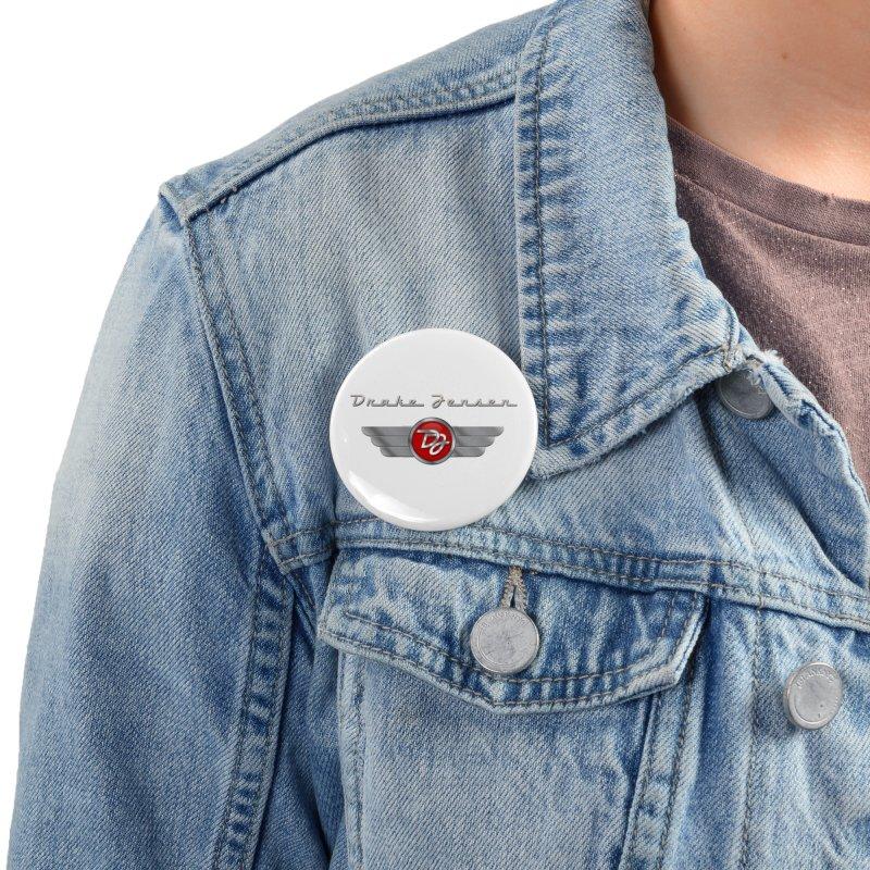 Drake Jensen Wings (Centered) Accessories Button by Drake Jensen's Artist Shop