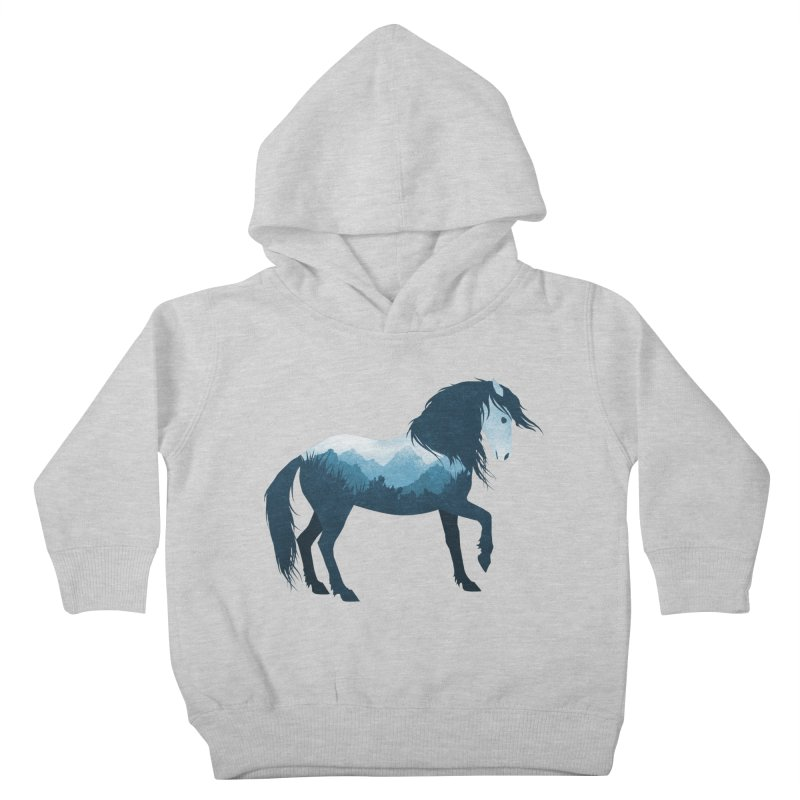 Mustang Wild Horse Kids Toddler Pullover Hoody by Dramabite's Artist Shop