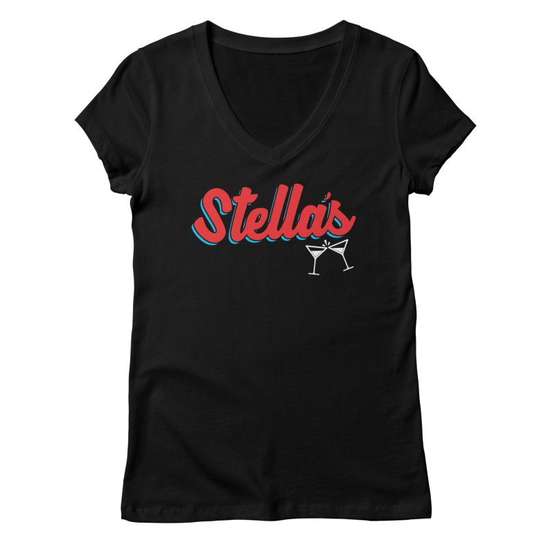 stella's tap softball jersey Women's V-Neck by dramgus's Artist Shop