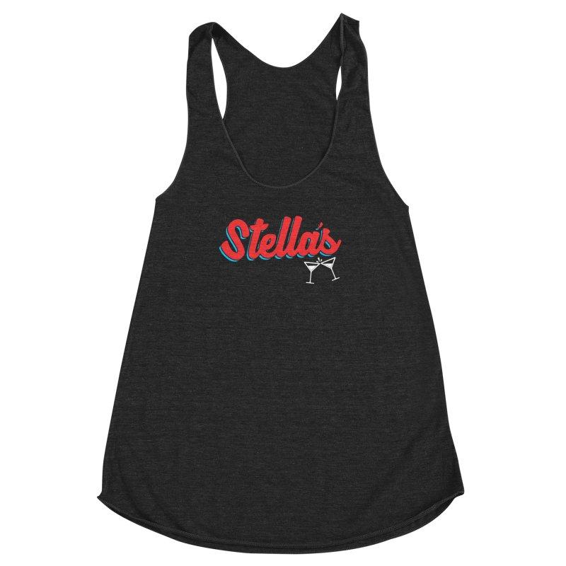 stella's tap softball jersey Women's Racerback Triblend Tank by dramgus's Artist Shop