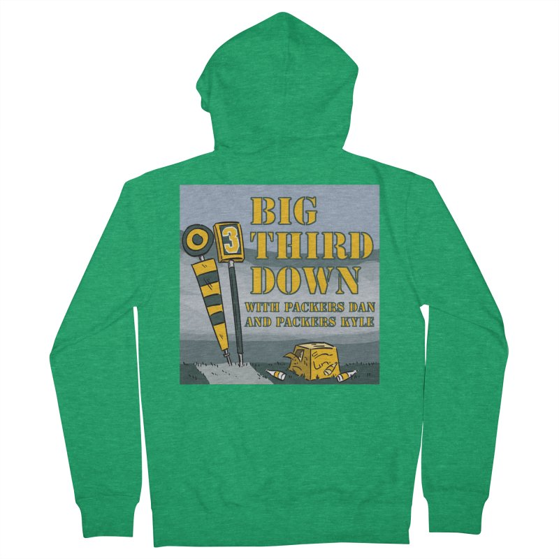 Big Third Down, with Packers Dan and Packers Kyle Women's Zip-Up Hoody by dramgus's Artist Shop