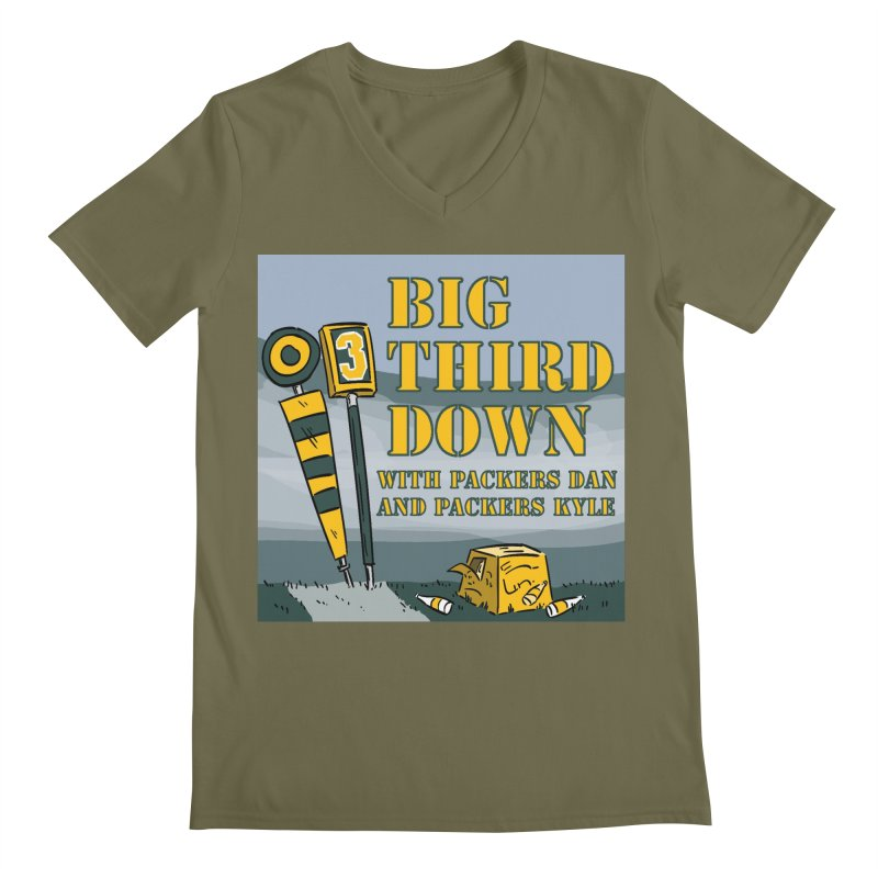 Big Third Down, with Packers Dan and Packers Kyle Men's V-Neck by dramgus's Artist Shop