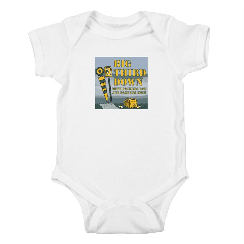 Big Third Down, with Packers Dan and Packers Kyle Kids Baby Bodysuit by dramgus's Artist Shop
