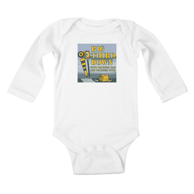 Big Third Down, with Packers Dan and Packers Kyle Kids Baby Longsleeve Bodysuit by dramgus's Artist Shop
