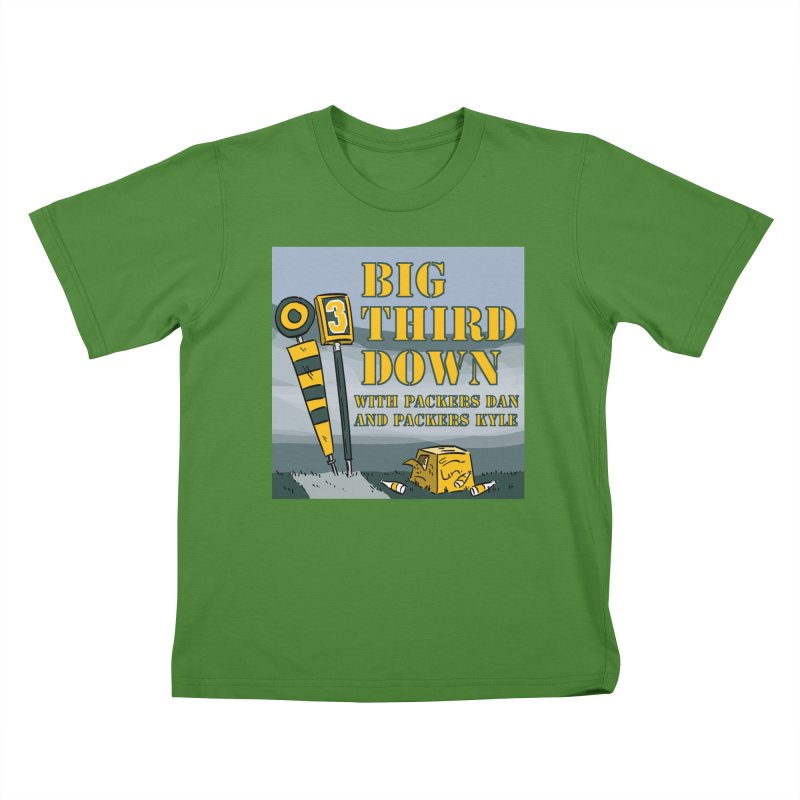 Big Third Down, with Packers Dan and Packers Kyle Kids T-Shirt by dramgus's Artist Shop