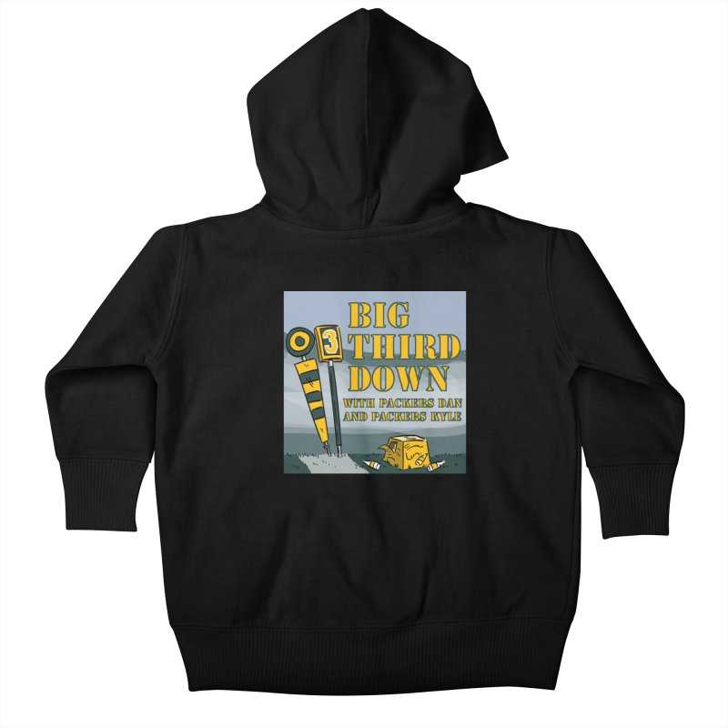 Big Third Down, with Packers Dan and Packers Kyle Kids Baby Zip-Up Hoody by dramgus's Artist Shop