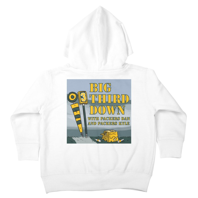 Big Third Down, with Packers Dan and Packers Kyle Kids Toddler Zip-Up Hoody by dramgus's Artist Shop