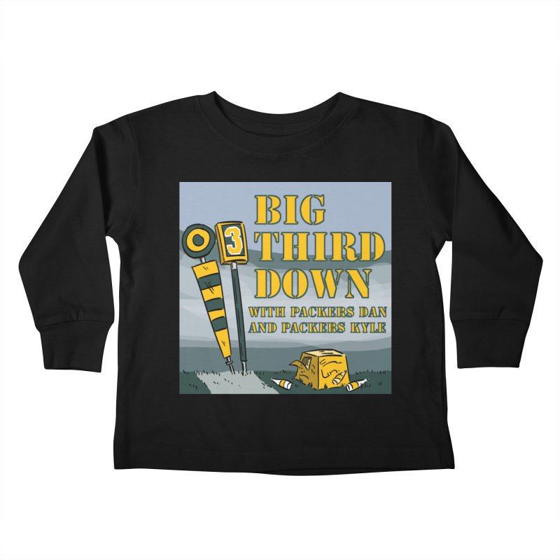 Big Third Down, with Packers Dan and Packers Kyle Kids Toddler Longsleeve T-Shirt by dramgus's Artist Shop