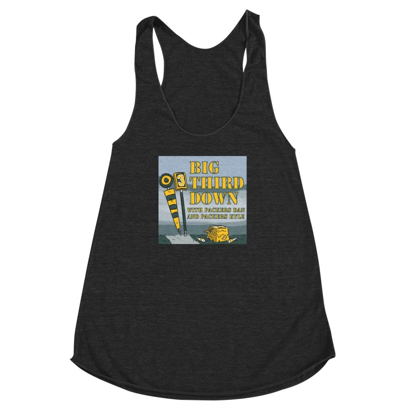 Big Third Down, with Packers Dan and Packers Kyle Women's Racerback Triblend Tank by dramgus's Artist Shop