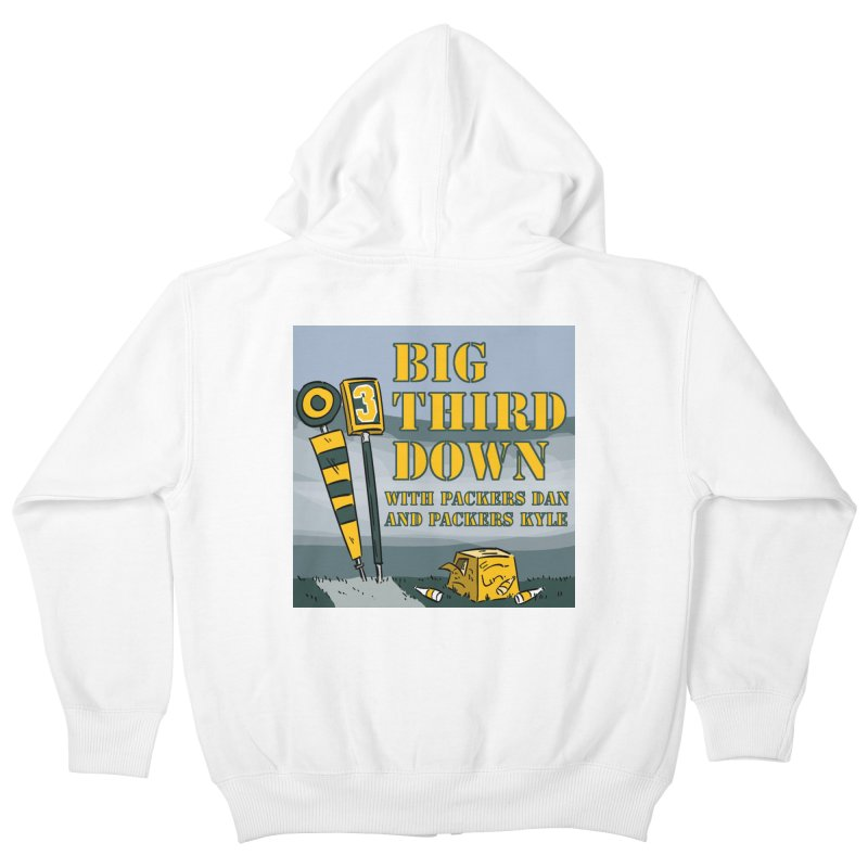 Big Third Down, with Packers Dan and Packers Kyle Kids Zip-Up Hoody by dramgus's Artist Shop