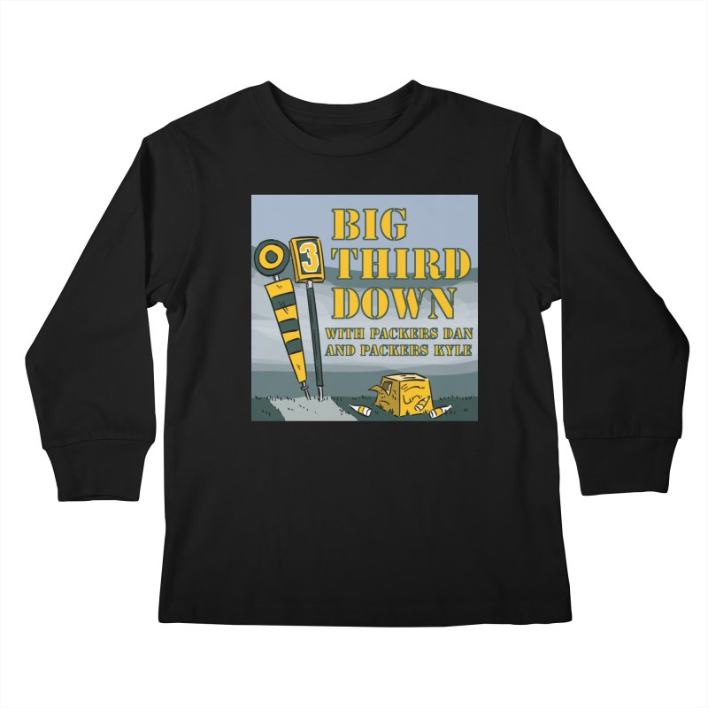 Big Third Down, with Packers Dan and Packers Kyle Kids Longsleeve T-Shirt by dramgus's Artist Shop