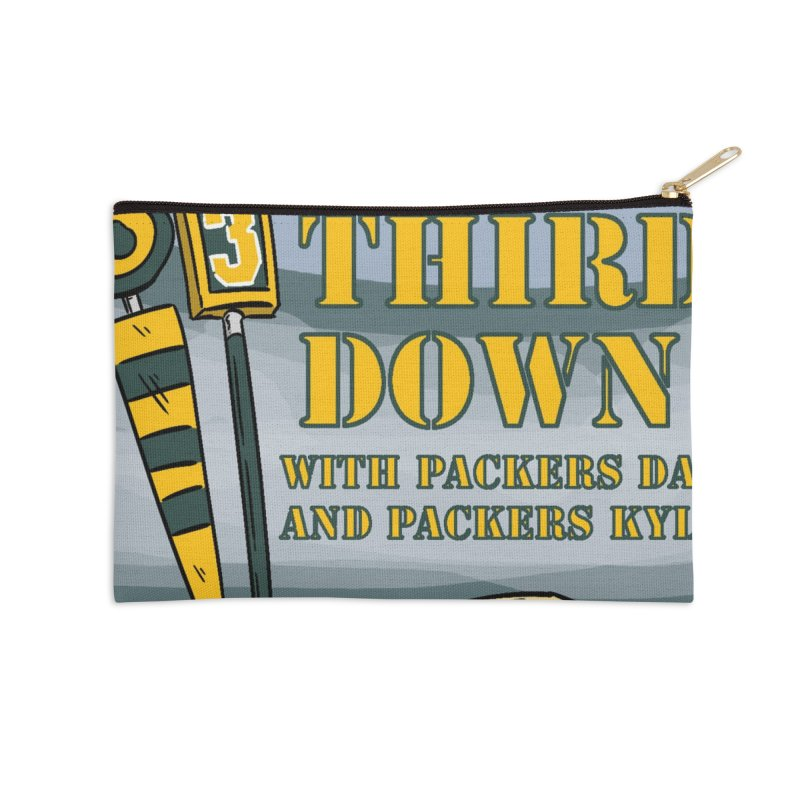 Big Third Down, with Packers Dan and Packers Kyle Accessories Zip Pouch by dramgus's Artist Shop
