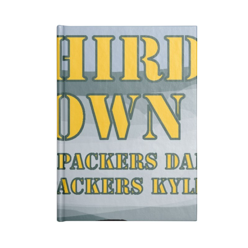 Big Third Down, with Packers Dan and Packers Kyle Accessories Notebook by dramgus's Artist Shop