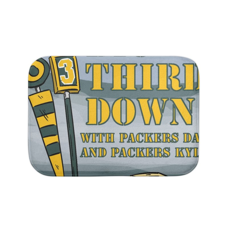 Big Third Down, with Packers Dan and Packers Kyle Home Bath Mat by dramgus's Artist Shop