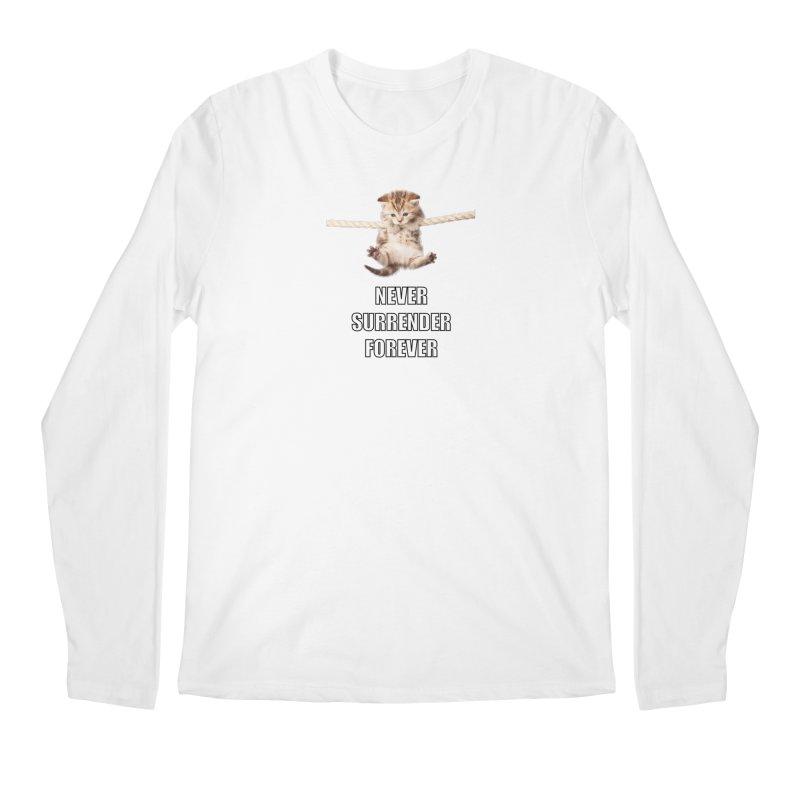 never surrender furever Men's Longsleeve T-Shirt by dramgus's Artist Shop