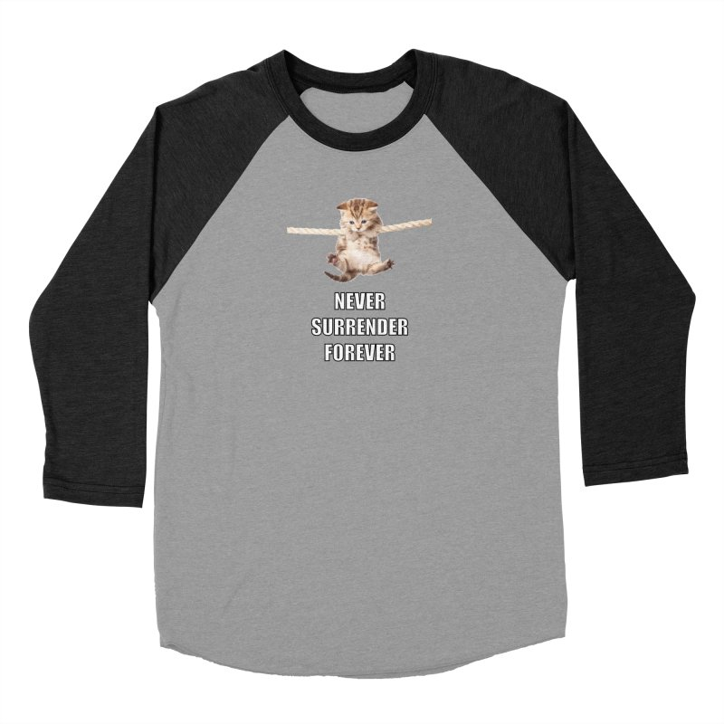 never surrender furever Men's Baseball Triblend T-Shirt by dramgus's Artist Shop
