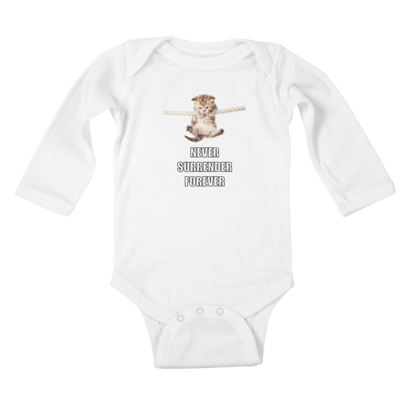 never surrender furever Kids Baby Longsleeve Bodysuit by dramgus's Artist Shop