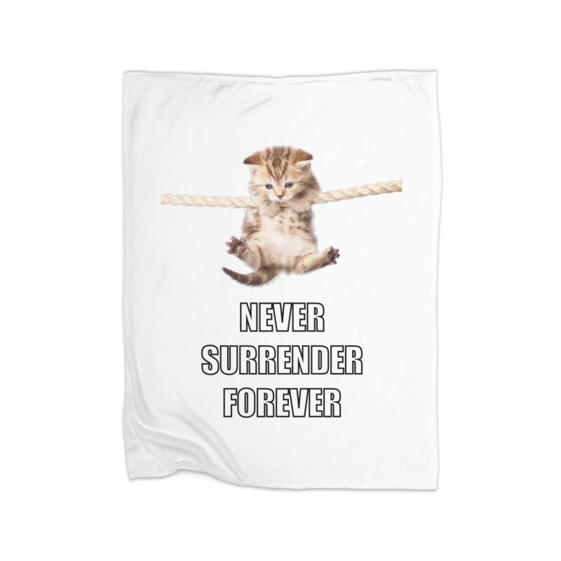 never surrender furever Home Blanket by dramgus's Artist Shop