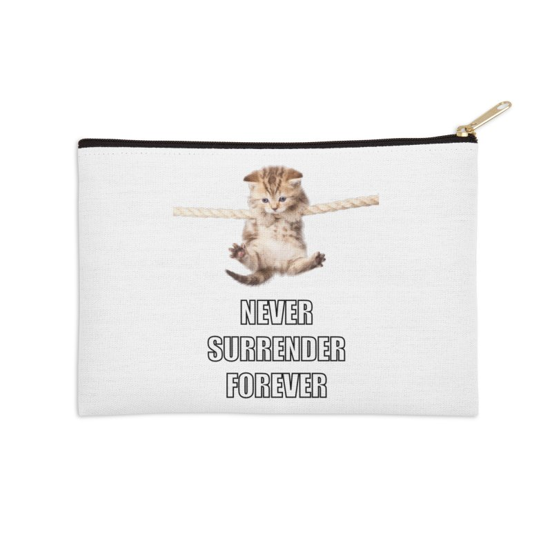 never surrender furever Accessories Zip Pouch by dramgus's Artist Shop