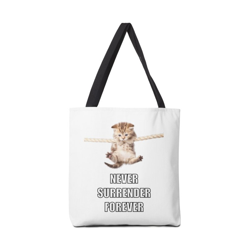 never surrender furever Accessories Bag by dramgus's Artist Shop