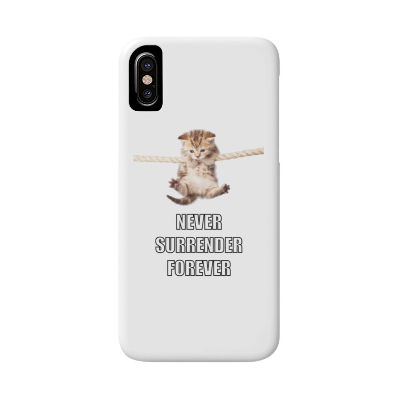 never surrender furever Accessories Phone Case by dramgus's Artist Shop