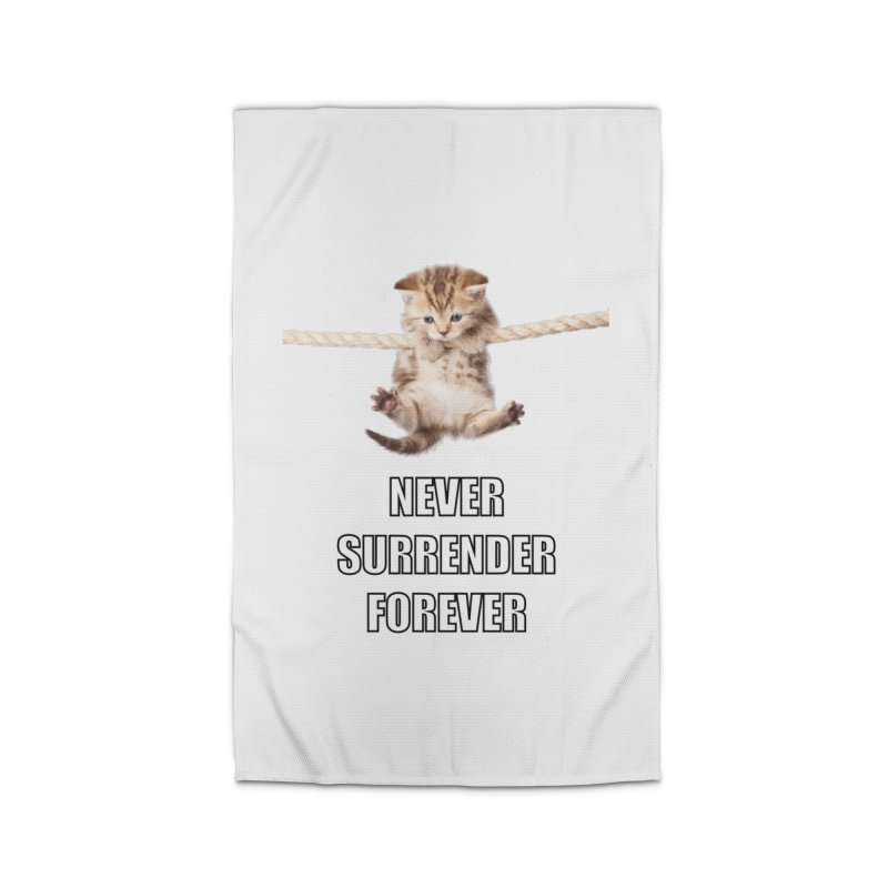 never surrender furever Home Rug by dramgus's Artist Shop