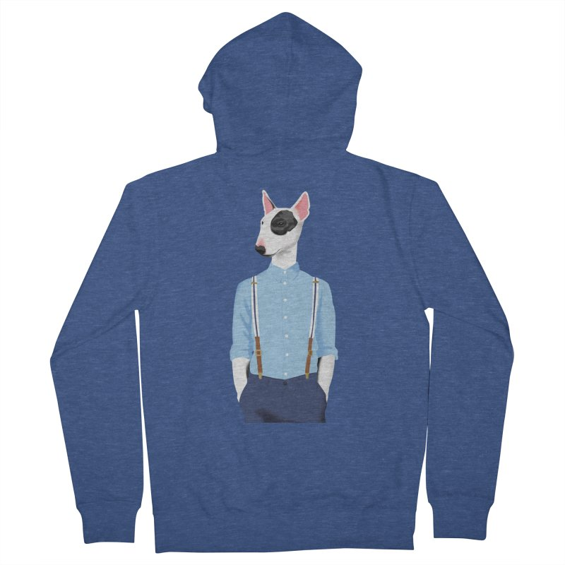 Skinhead Bull Terrier Men's Zip-Up Hoody by drawgood's Shop