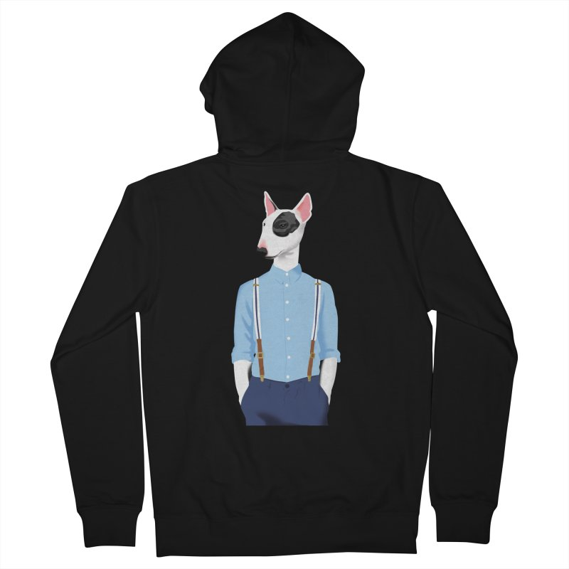 Skinhead Bull Terrier Men's Zip-Up Hoody by drawgood's Shop