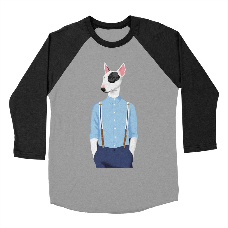 Skinhead Bull Terrier Men's Baseball Triblend T-Shirt by drawgood's Shop