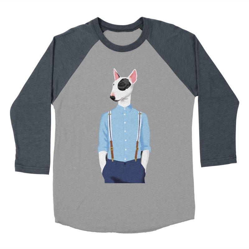 Skinhead Bull Terrier Men's Baseball Triblend T-Shirt by drawgood's Shop