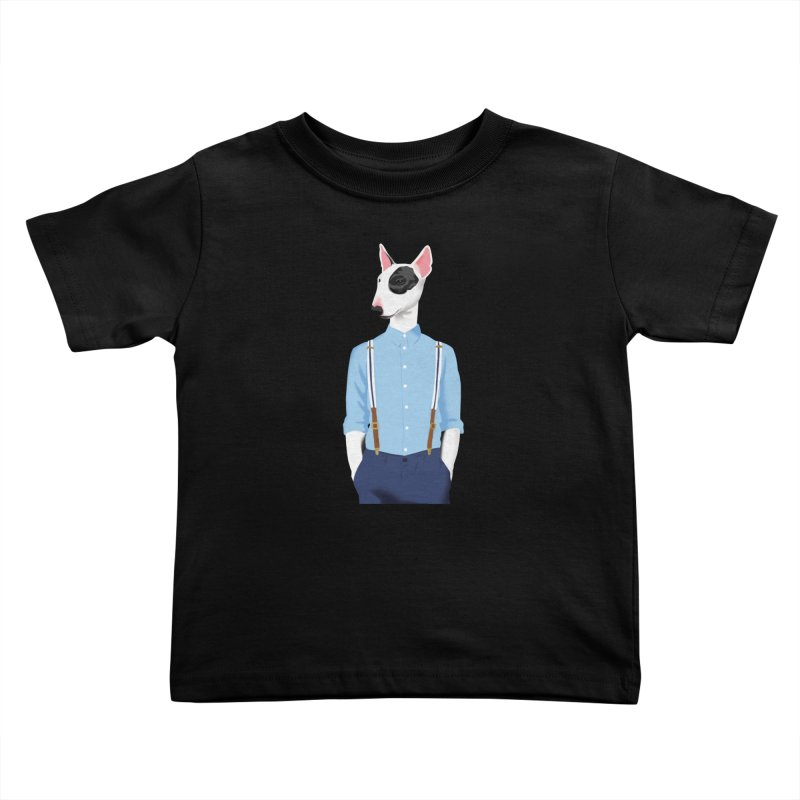 Skinhead Bull Terrier Kids Toddler T-Shirt by drawgood's Shop